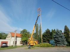 Máj stavění a kácení 2012