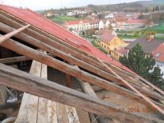 Mateřská školka - oprava střechy